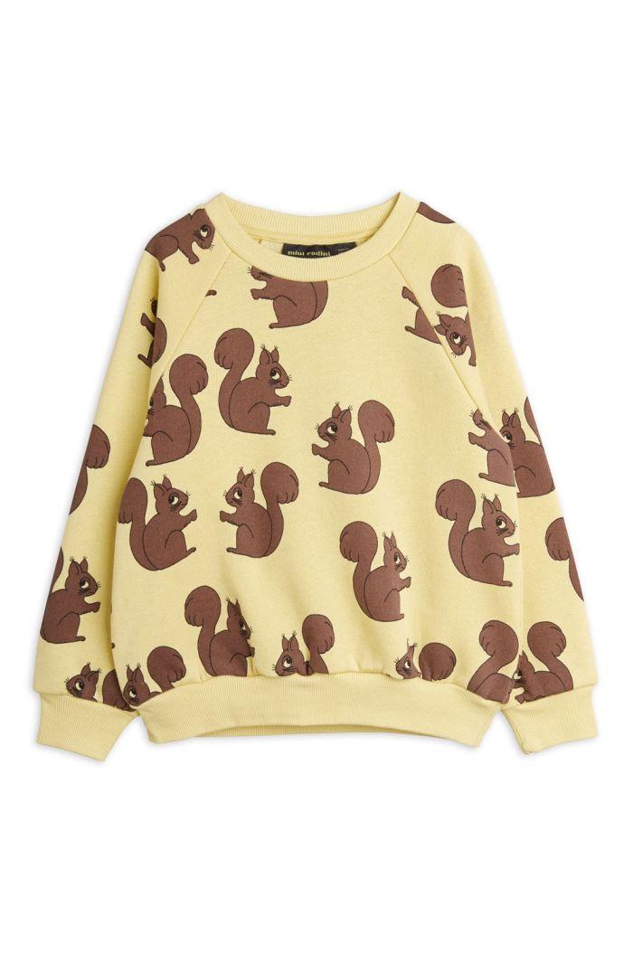 Mini Rodini Squirrel all-over print sweatshirt Yellow_1