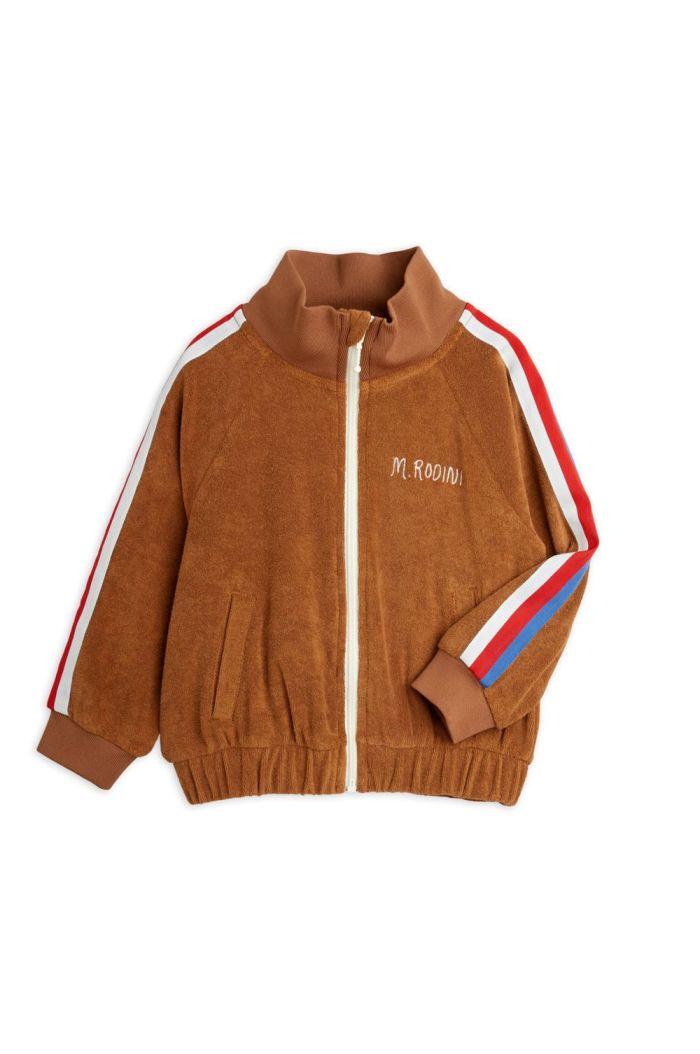 Mini Rodini Terry jacket Brown_1