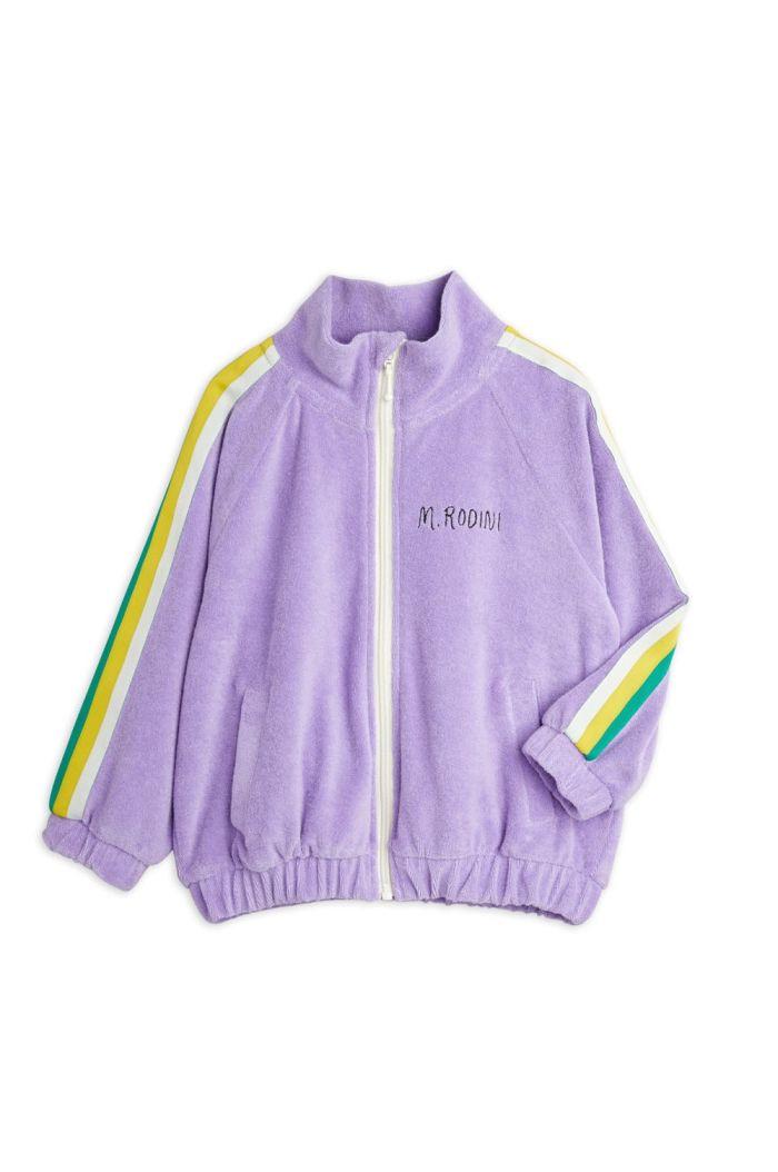 Mini Rodini Terry jacket Purple_1