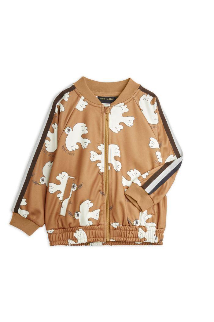 Mini Rodini Dove all-over print wct jacket Brown_1