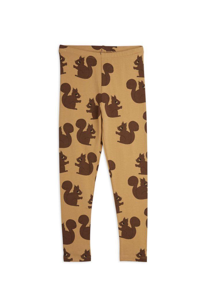 Mini Rodini Squirrel all-over print leggings Brown_1