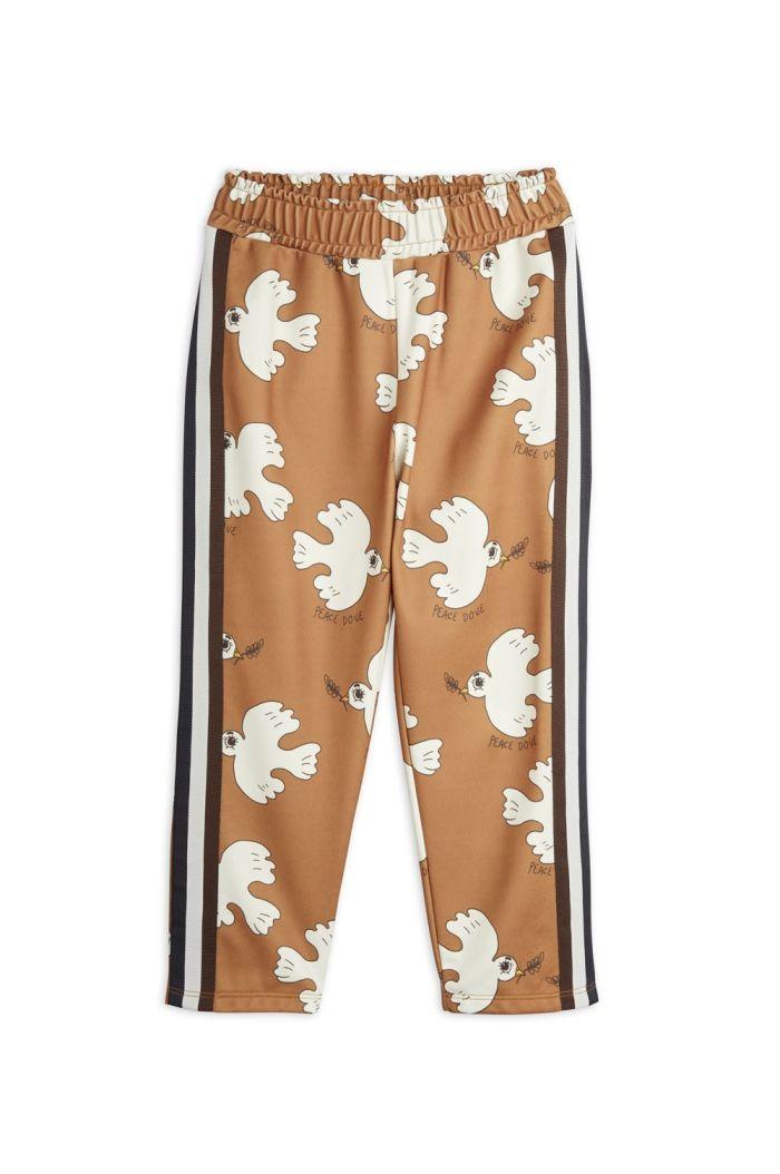 Mini Rodini Dove all-over print wct trousers Brown_1