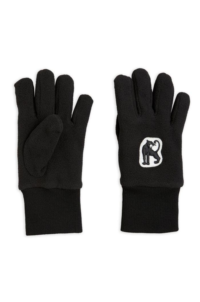 Mini Rodini Microfleece gloves Black_1