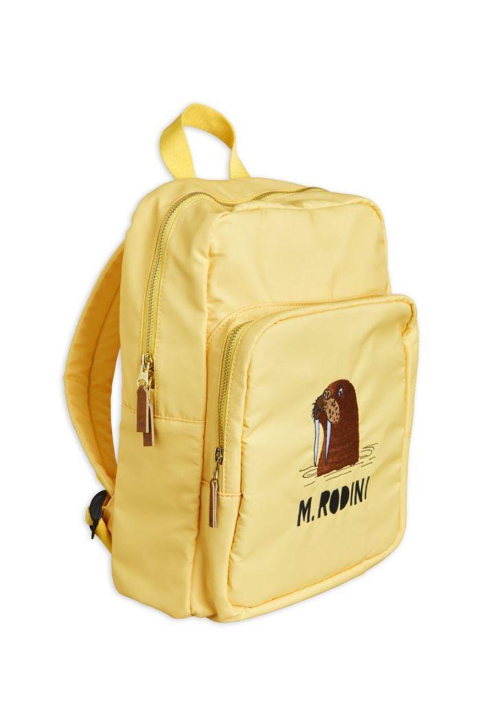 Mini Rodini Walrus backpack Yellow_1