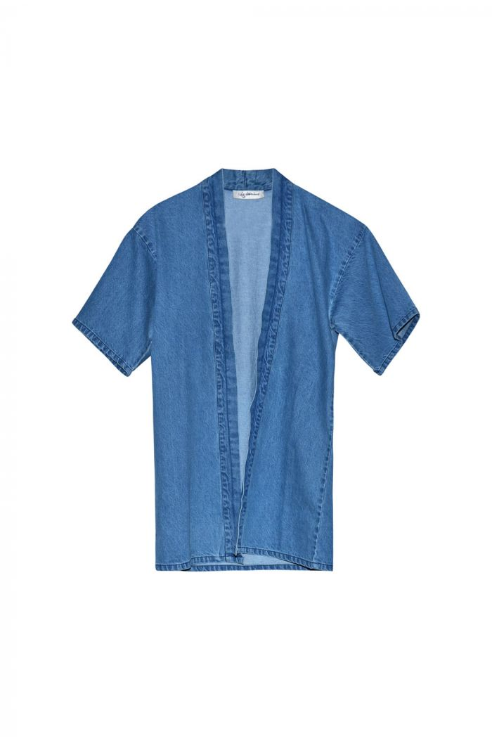 I Dig Denim Jayden Denim Kimono blue