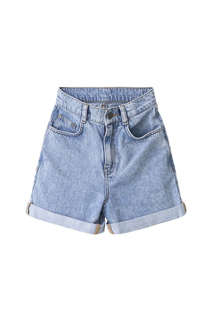 I Dig Denim Mia high waist denim shorts blue_1