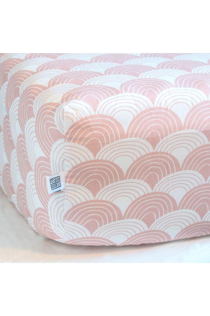Swedish Linens Rainbows Single bed sheet Nudy pink