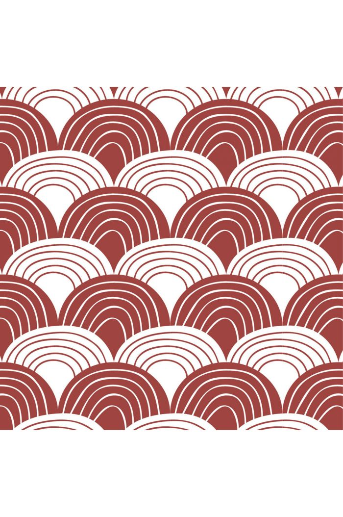 Swedish Linens Rainbows Bed Sheet Burgundy