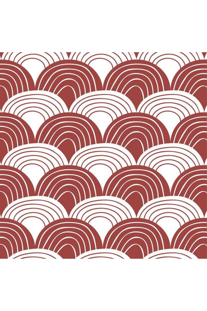 Swedish Linens Rainbows Bed Sheet Burgundy