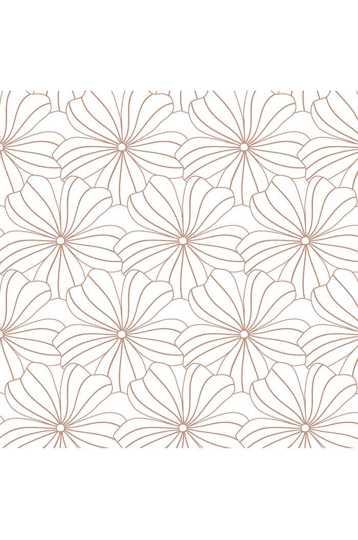 Swedish Linens Flowers Fitted Sheet White_1