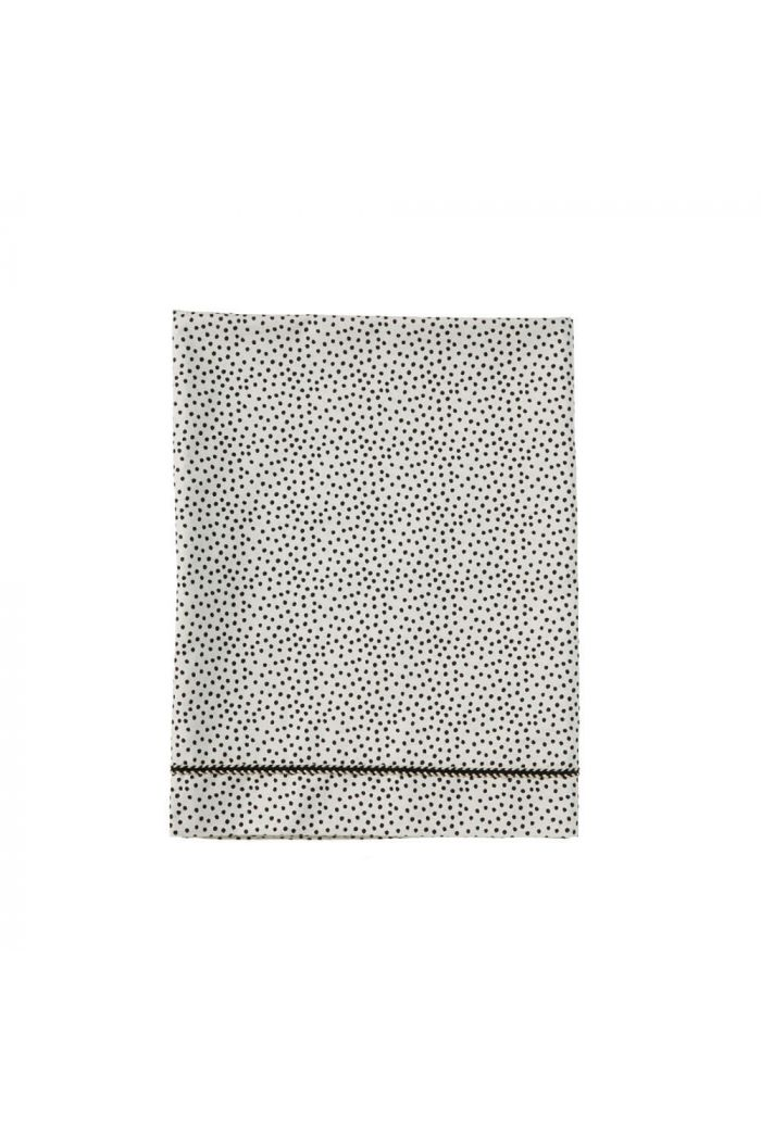 Mies & Co Baby Crib Sheet Cozy Dots Offwhite