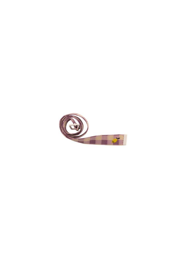 Sticky Lemon Belt Gingham - Plum Purple_1