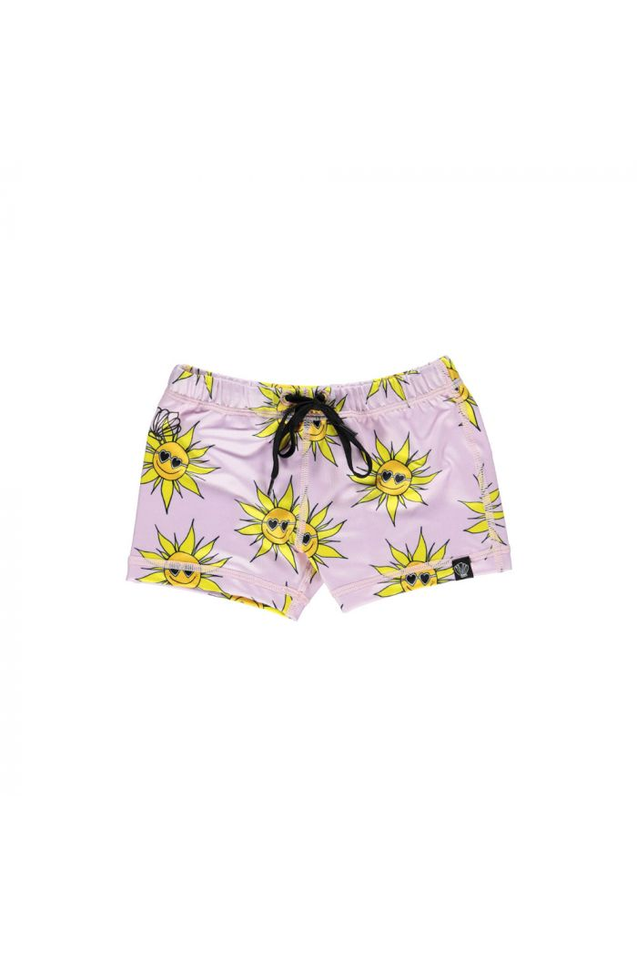 Beach & Bandits Sunny Flower swimshort Lila