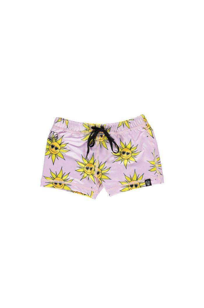 Beach & Bandits Sunny Flower swimshort Lila_1