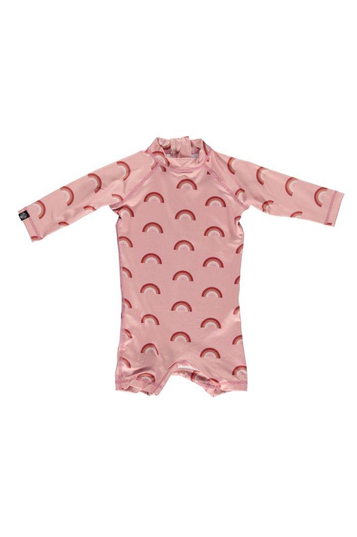 Beach & Bandits Pink Rainbow Baby Suit x Eef Lillemor Retro Pink_1