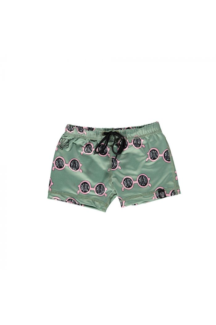 Beach & Bandits Beach Please Swimshort Basil/Pink_1
