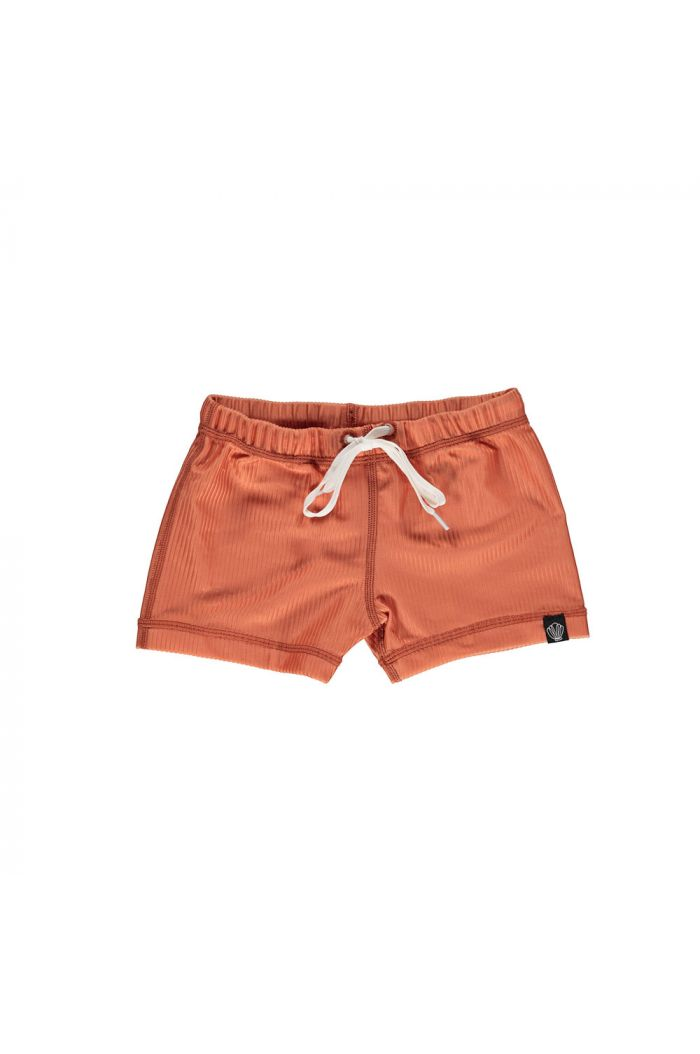 Beach & Bandits Clay Ribbed  swimshort Clay_1