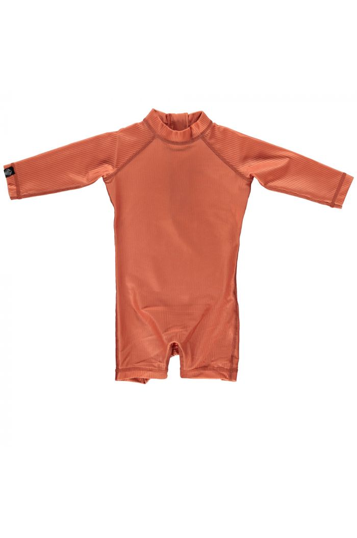 Beach & Bandits Clay Ribbed Baby Suit Clay_1