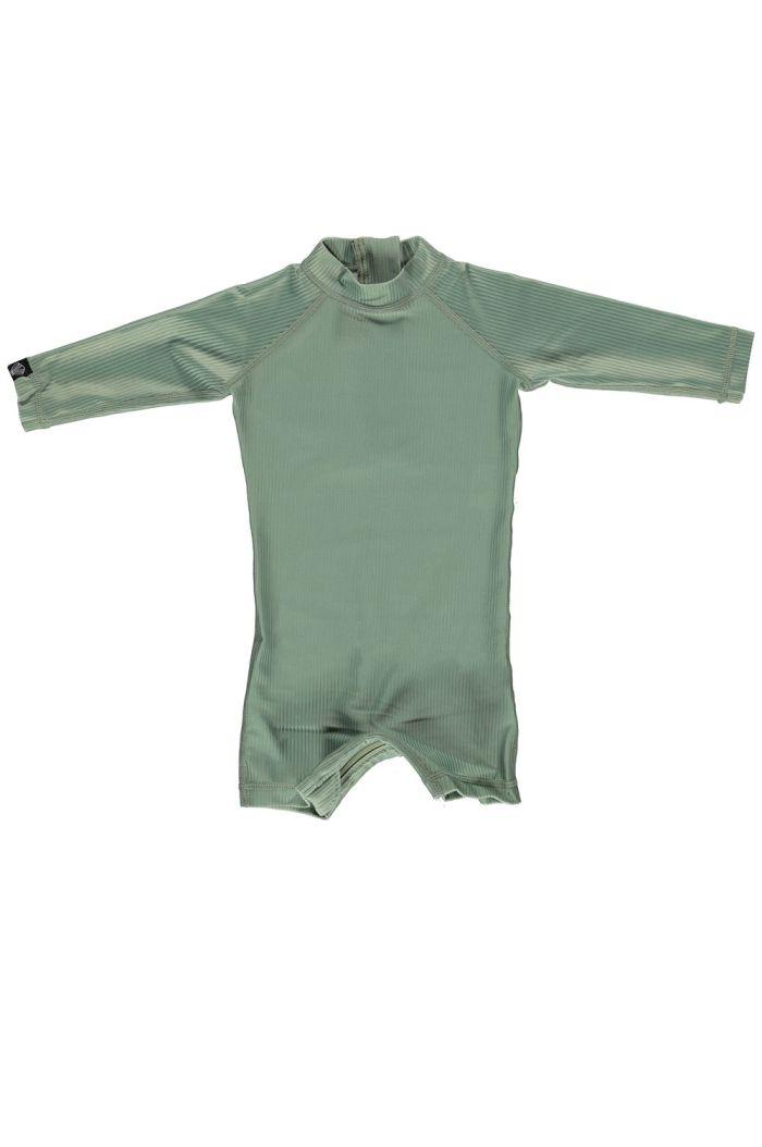 Beach & Bandits Basil Ribbed Baby Suit Basil_1