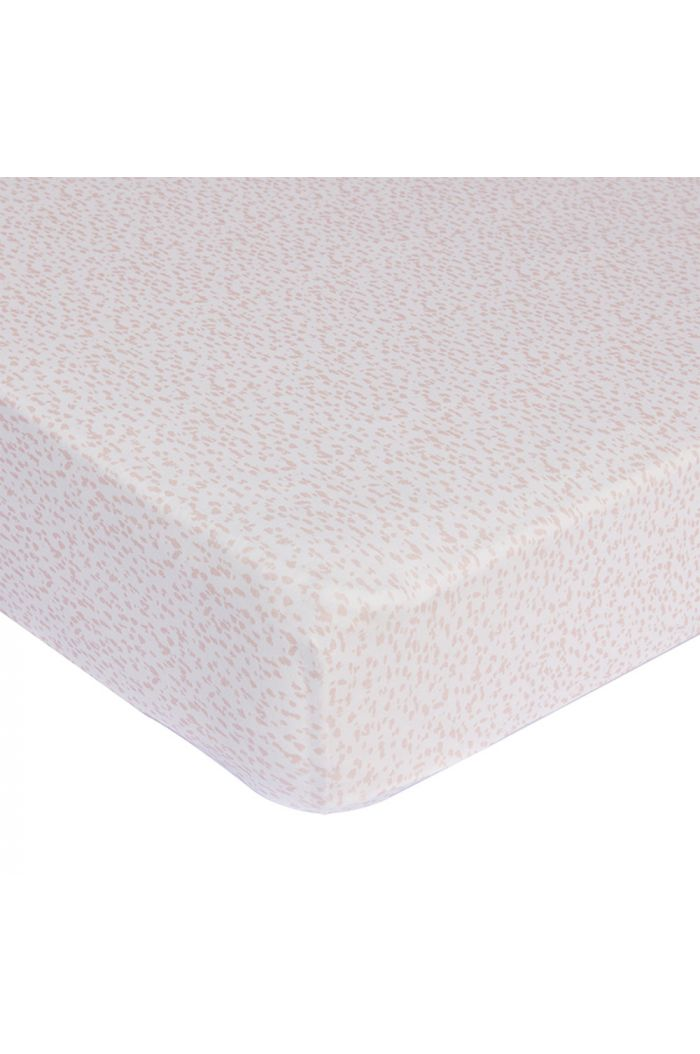Mies & Co Fitted Sheet Baby Crib Wild Child Chalk Pink