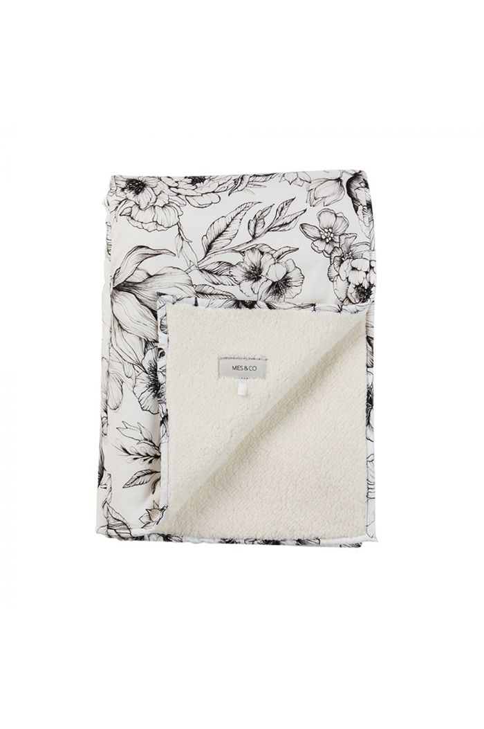 Mies & Co Soft Teddy Blanket Big Bumble Love Offwhite