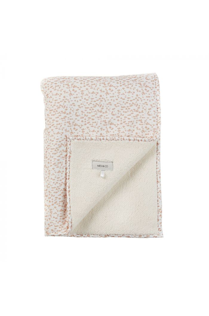 Mies & Co Soft Teddy Blanket Big Wild Child Chalk Pink_1