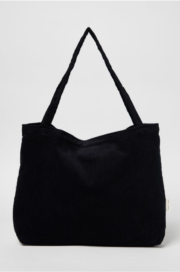 Studio Noos All Black Rib Mom Bag_1