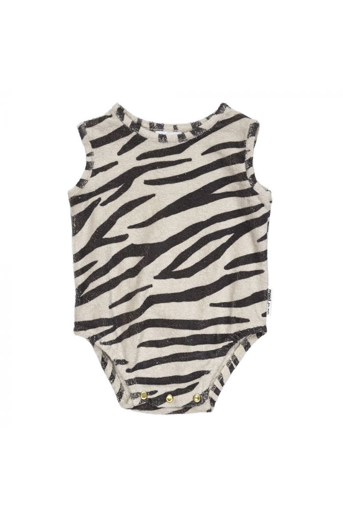Maed for Mini Bodysuit Smiling Zebra