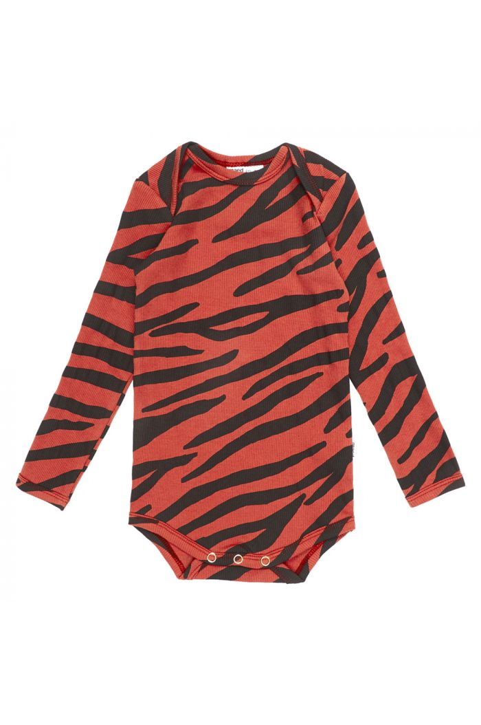 Maed for Mini Romper Snappy Zebra