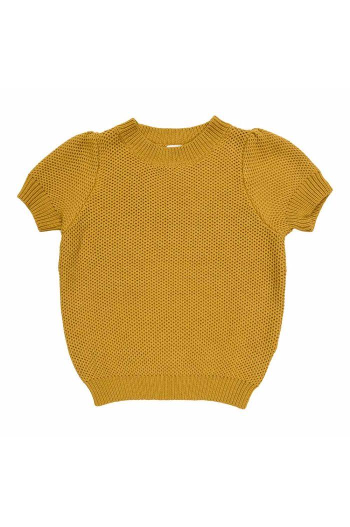Maed for Mini Knit Top Golden Grasshopper