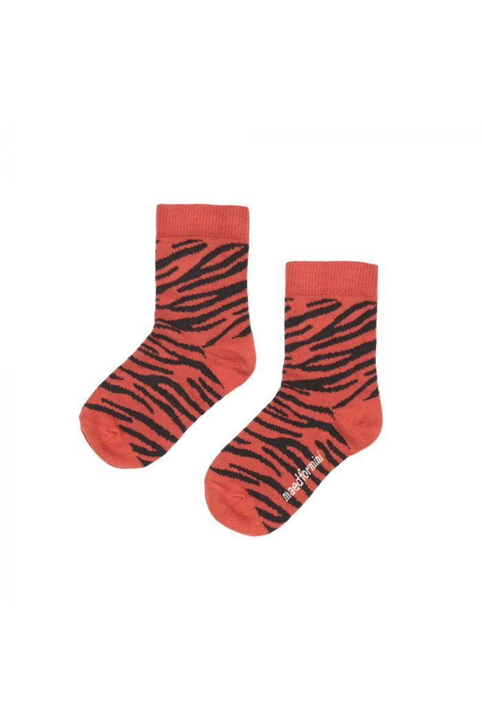 Maed for Mini Basic Socks Snappy Zebra
