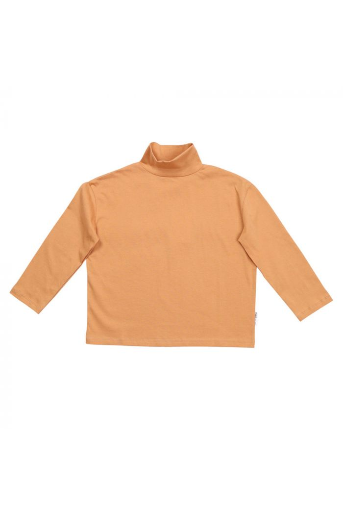 Maed for Mini Longsleeve Turtleneck Peach Panther_1