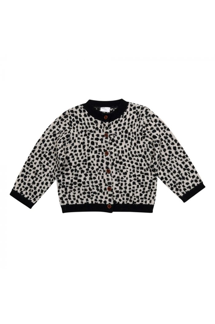 Maed for Mini Knit Cardigan Snow leopard All-over print_1