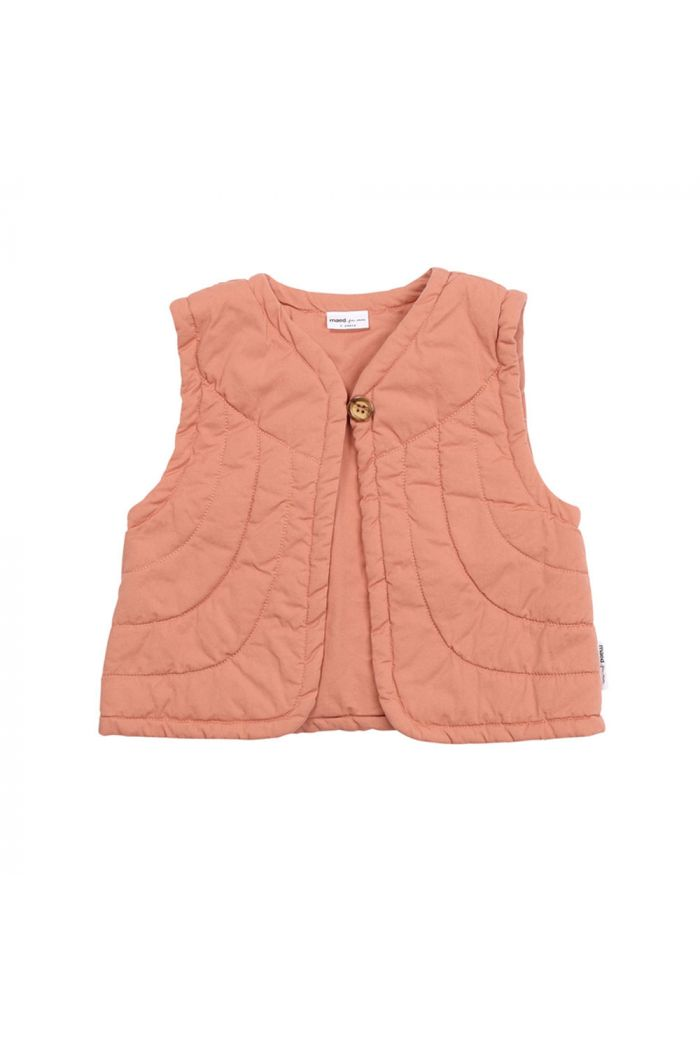 Maed for Mini Padded Bodywarmer Peach Parrot_1