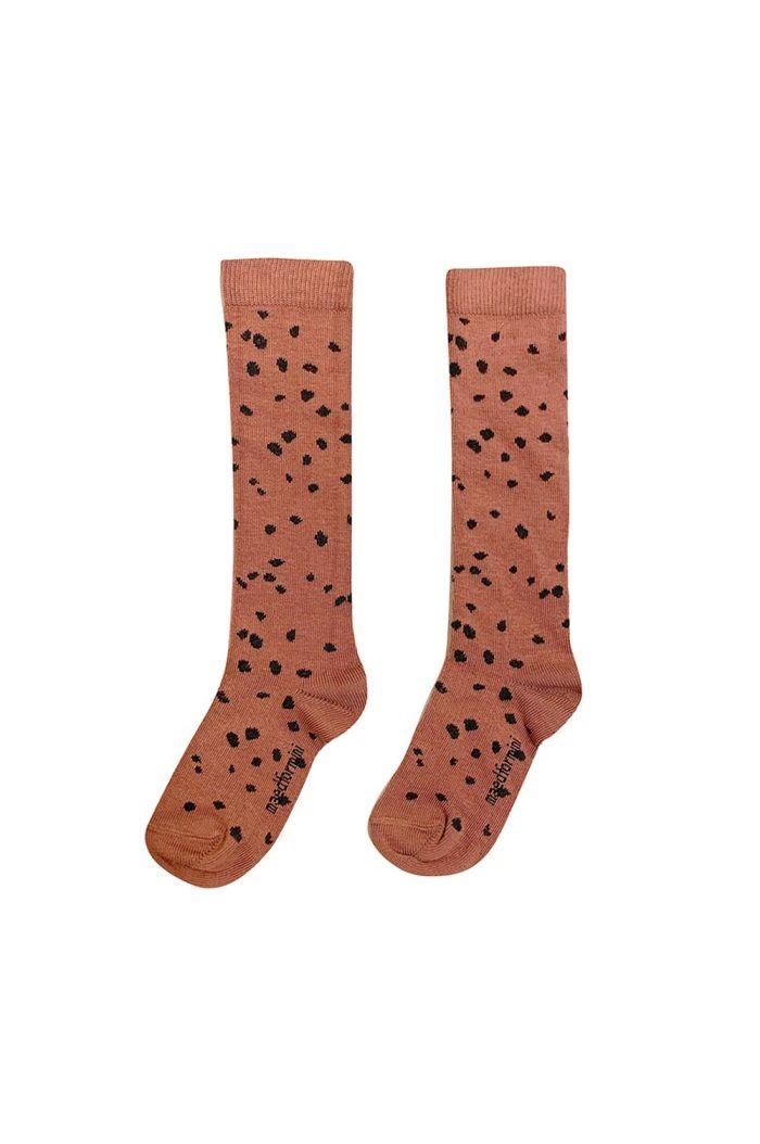 Maed for Mini Knee Socks Brown Sahara Leopard All-over print_1