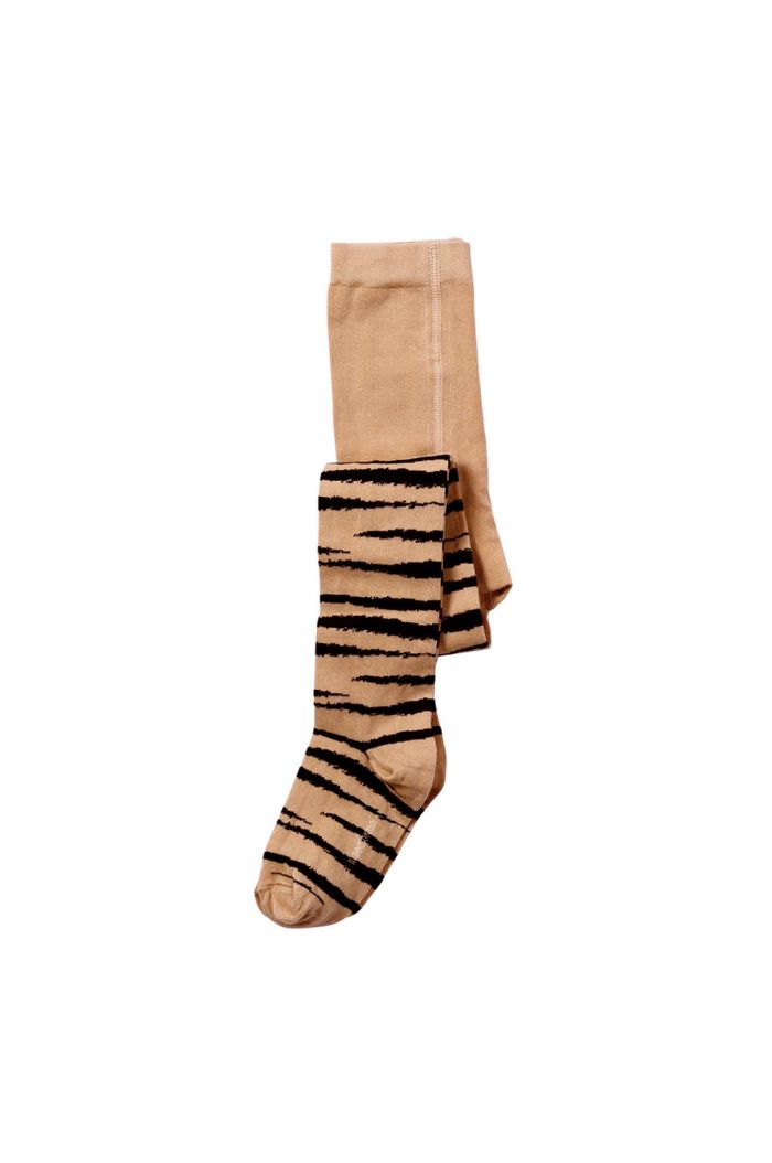 Maed for Mini Tights Brown Tiger All-over print_1