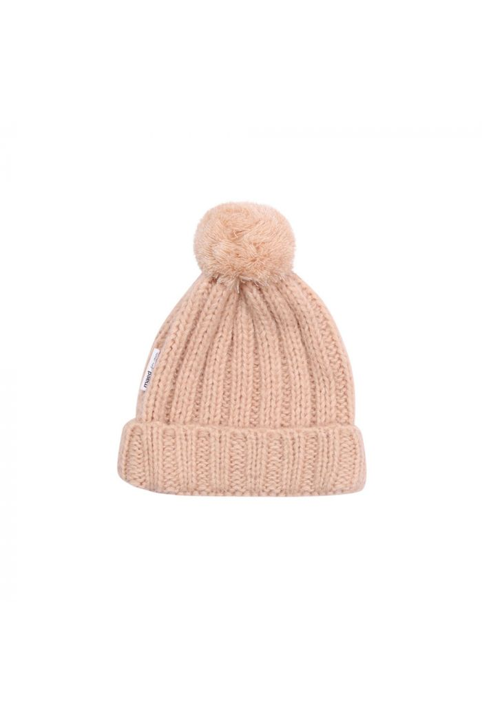 Maed for Mini Knit Hat Peach Parrot_1