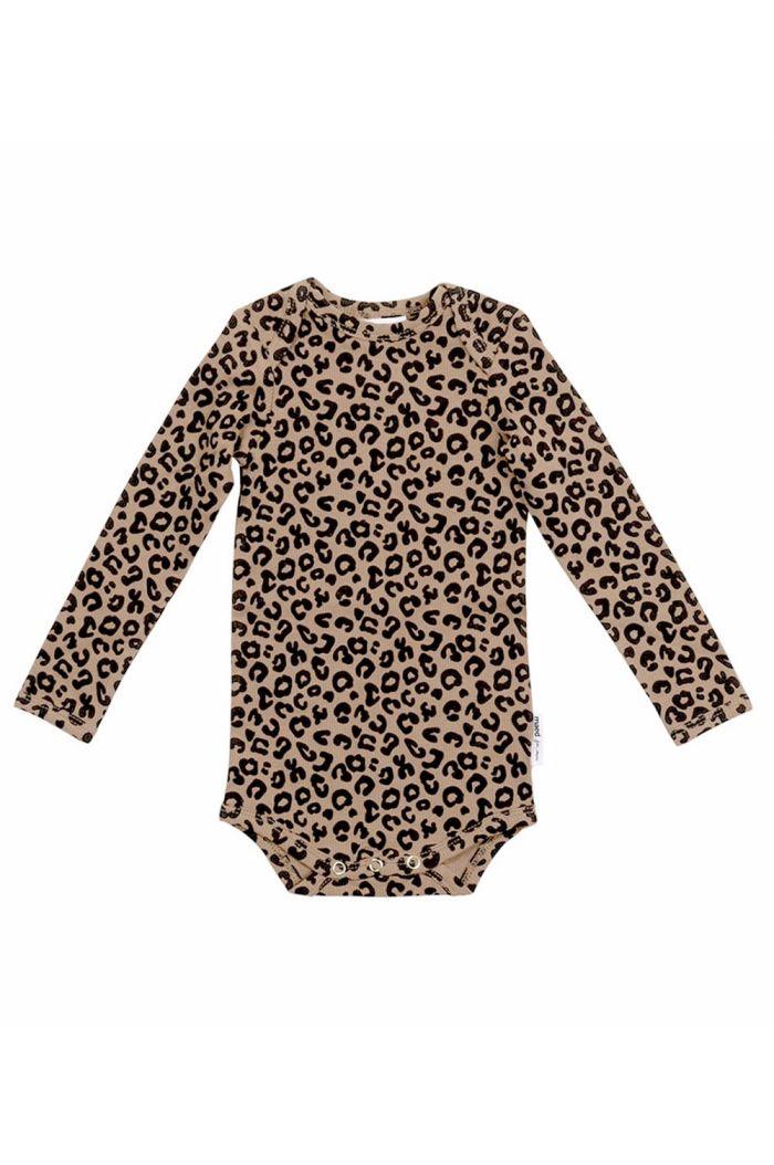 Maed for Mini Romper Brown Leopard All-over Print