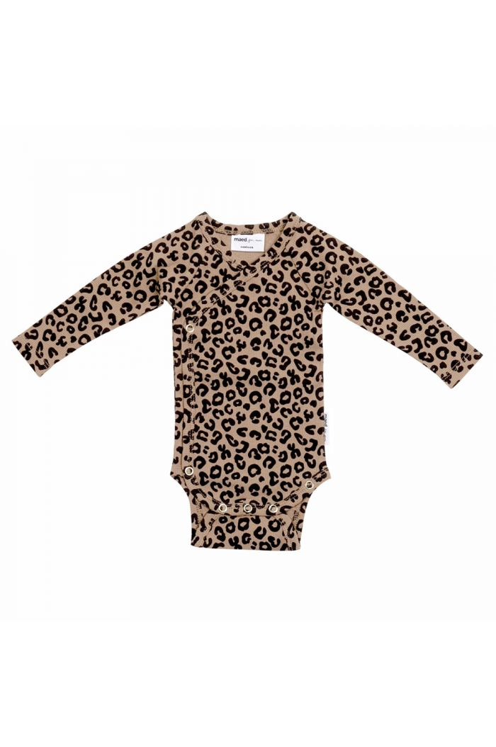 Maed for Mini Wrap Body Brown Leopard All-over Print