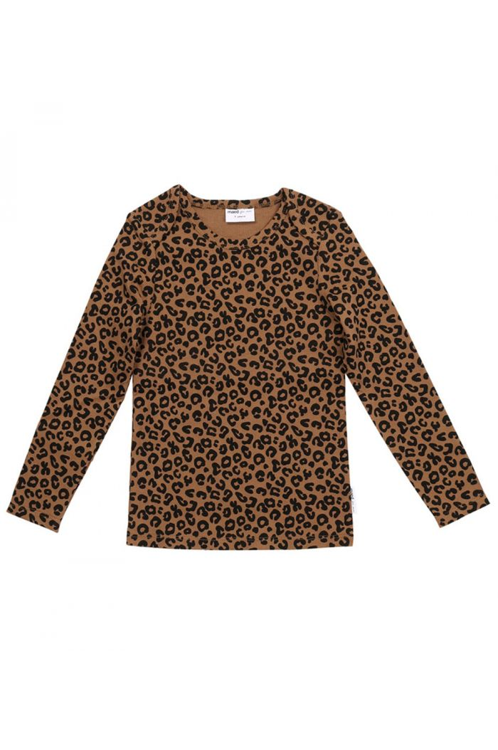 Maed for Mini Longsleeve Chocolate leopard All-over print_1