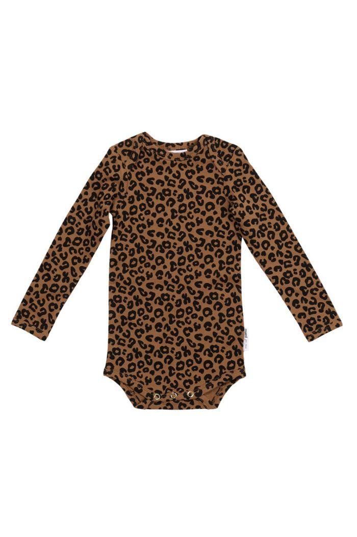 Maed for Mini Romper Chocolate leopard All-over print