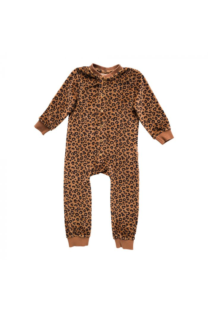 Maed for Mini Onepiece Chocolate Cougar faux fur_1