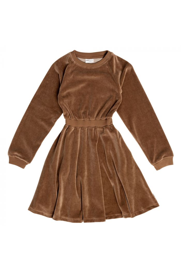 Maed for Mini Dress Caramel coyote velour_1