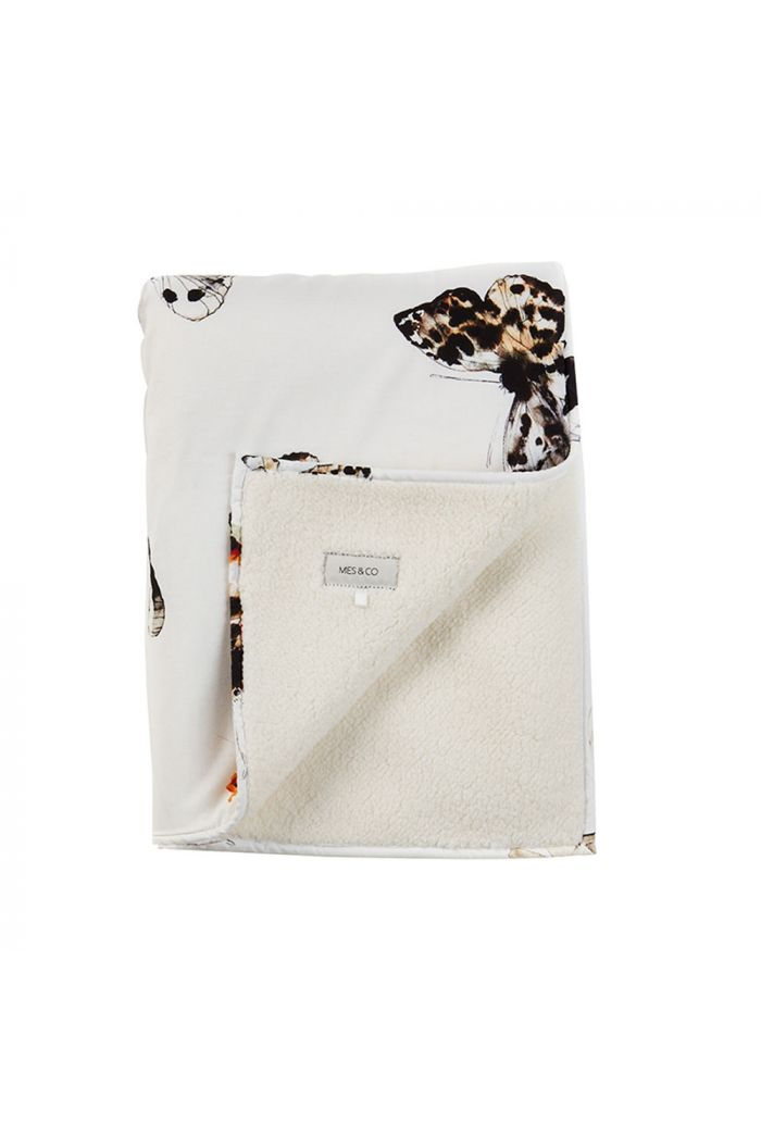 Mies & Co Soft Teddy Blanket Big Fika Butterfly Offwhite