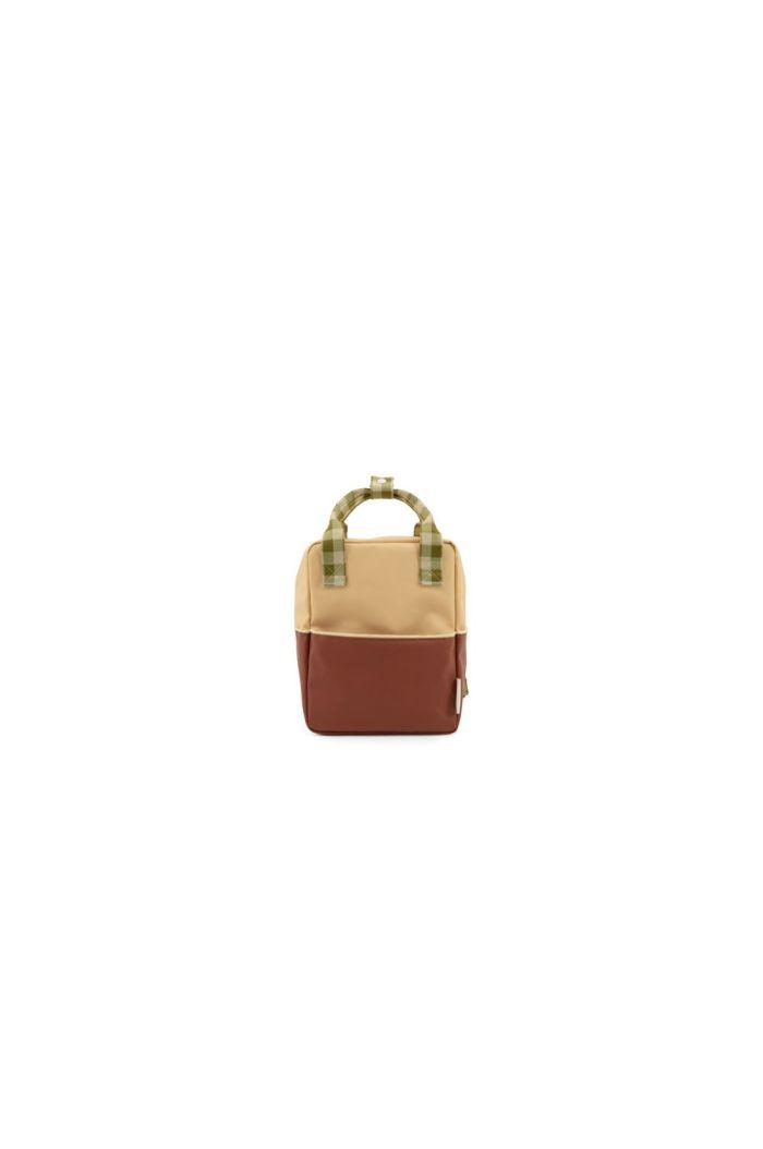 Sticky Lemon Backpack Colourblocking Fig Brown - Apple Tree - Vanilla Sorbet_1