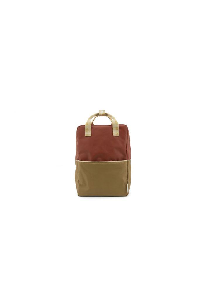 Sticky Lemon Backpack Colour Blocking Fig Brown - Apple Tree - Vanilla Sorbet_1
