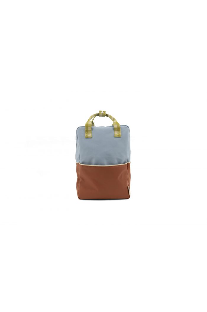 Sticky Lemon Backpack Colour Blocking Blueberry - Willow Brown - Pear Green_1