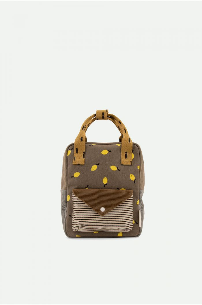 Sticky Lemon Backpack Small Corduroy Envelope Pigeon Blue + Woody Green_1