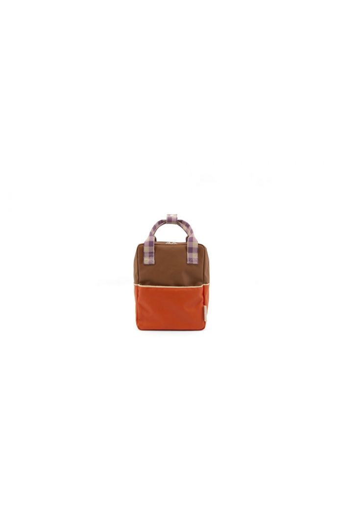 Sticky Lemon Backpack Colourblocking Orange Juice - Plum Purple - Schoolbus Brown_1