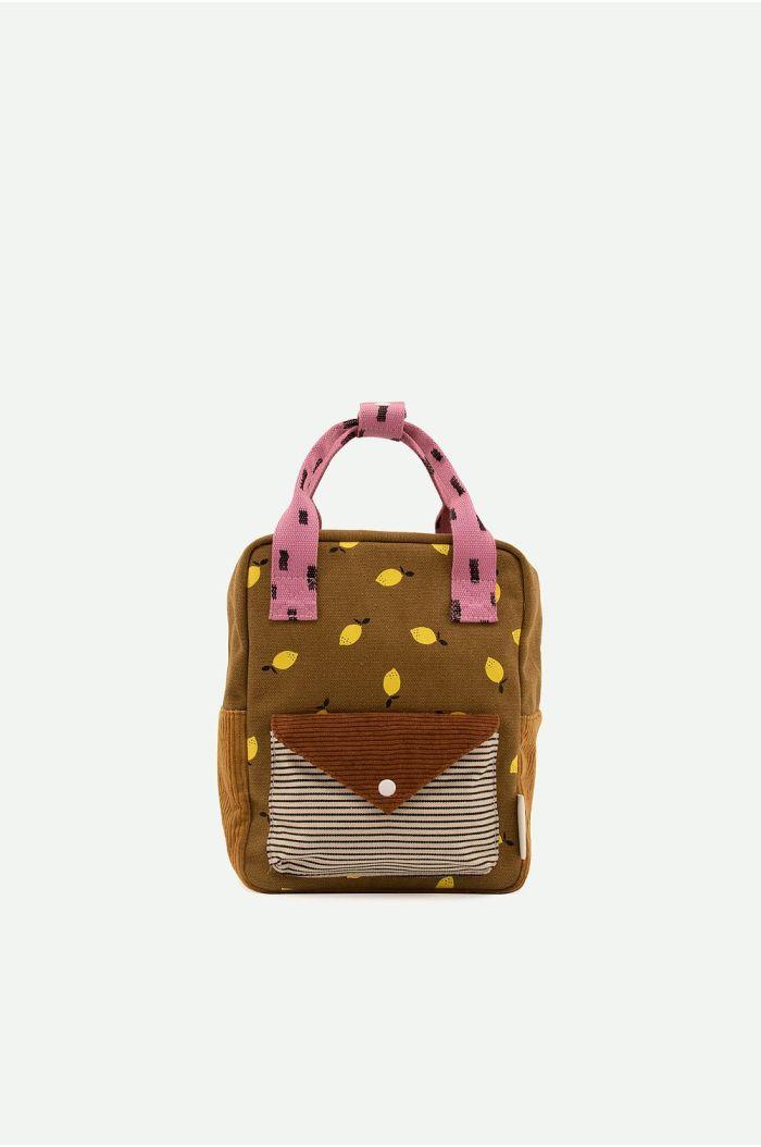Sticky Lemon Backpack Small Corduroy Envelope Dijon + Gingerbread_1